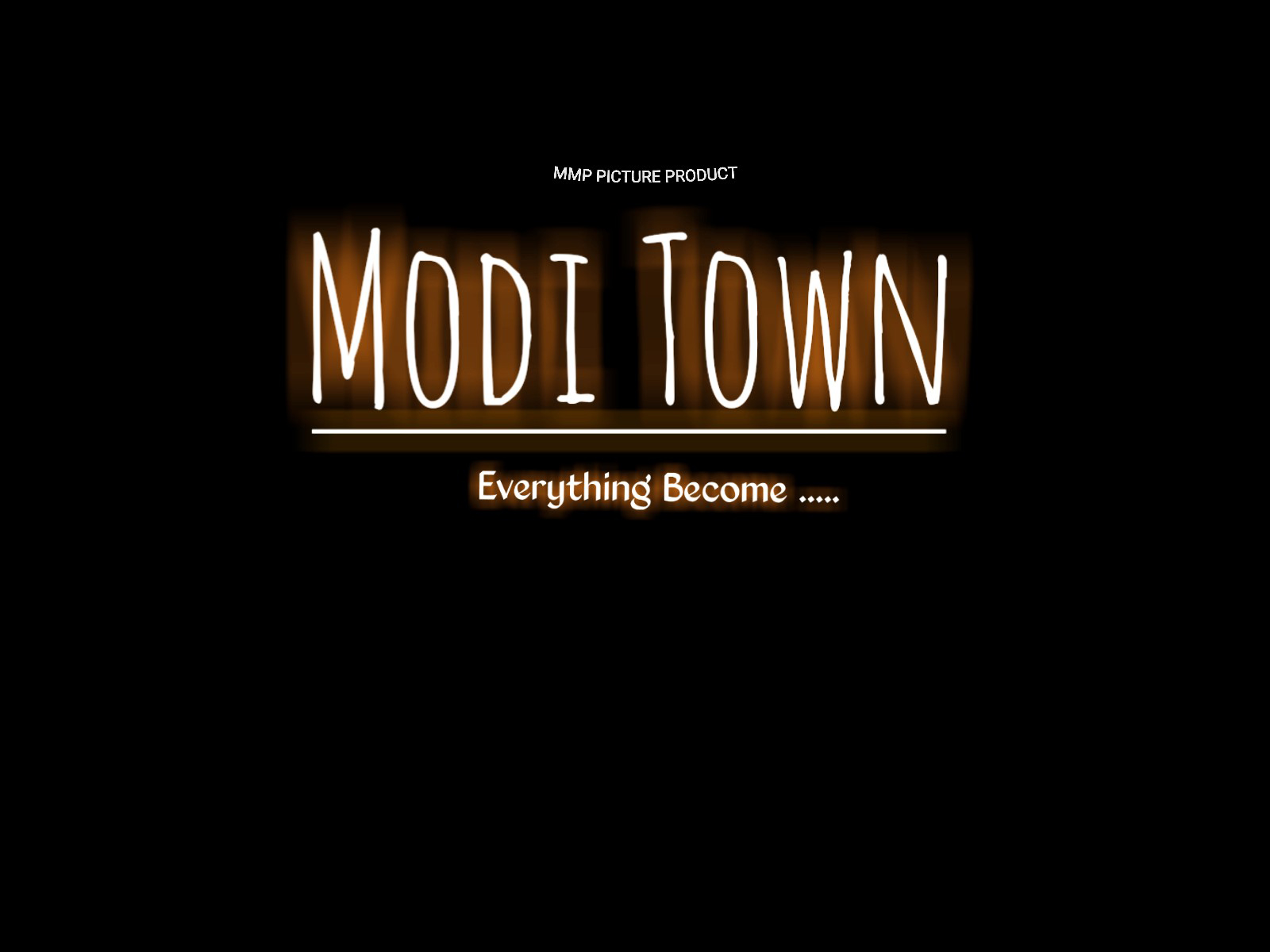 Modi town text png download modi town text with neon light.