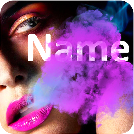 Smoke Effect Name Art: Focus Filter Maker Text Art.