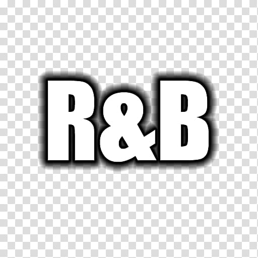 Wordcons, R&B text transparent background PNG clipart.