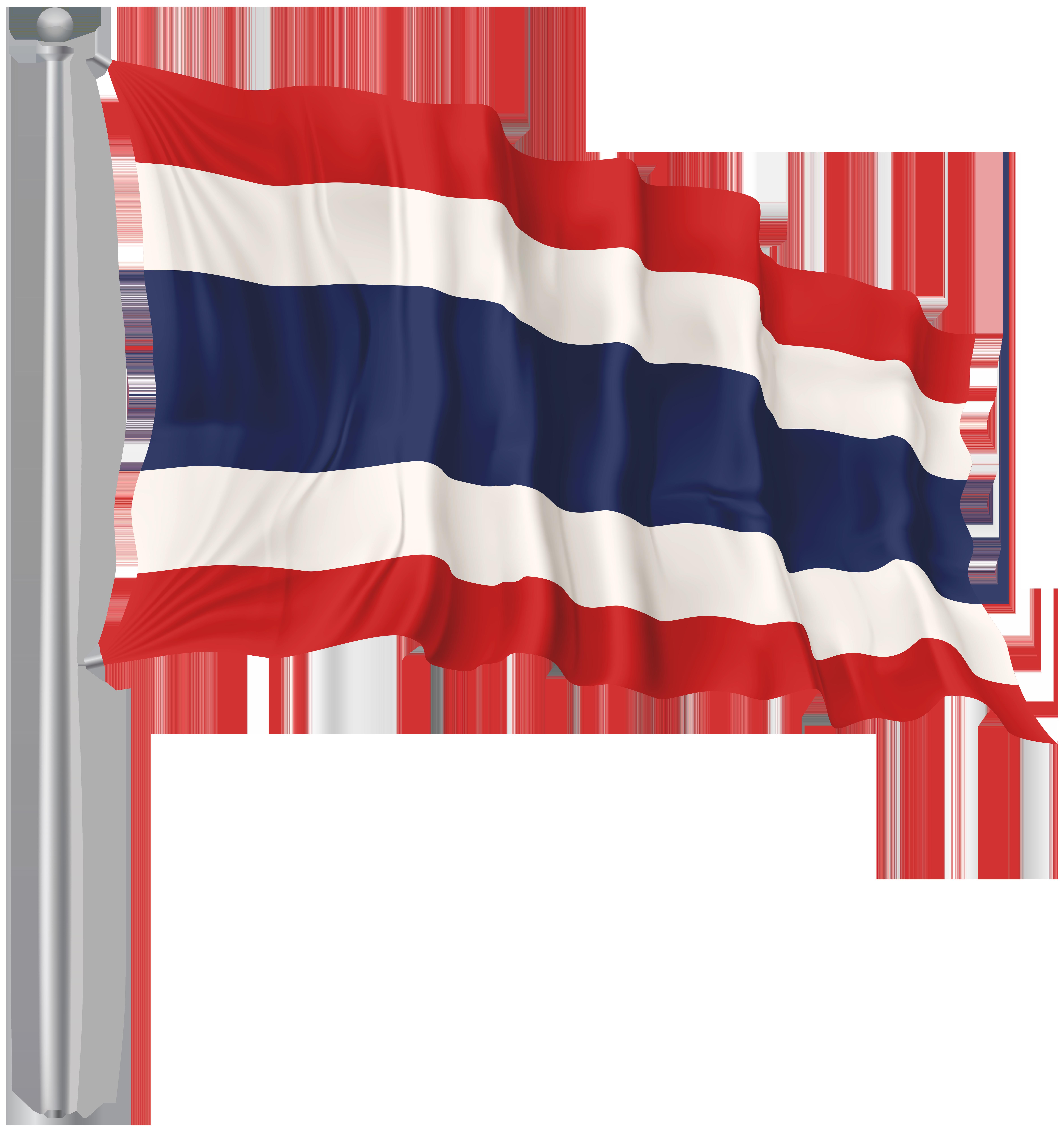 Thailand Waving Flag PNG Image.