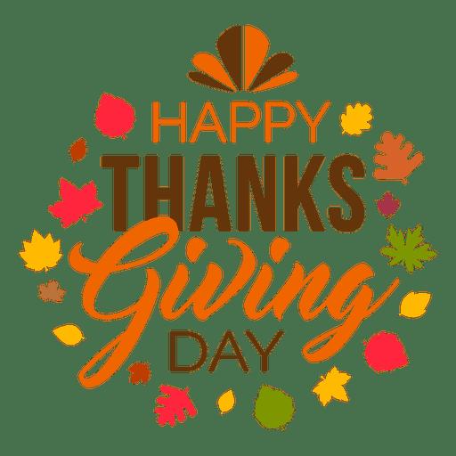 Happy thanksgiving day logo.