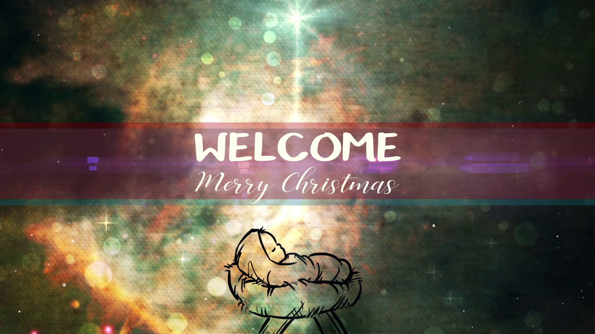 Christmas Creator Baby Welcome Title.