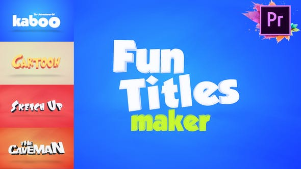 Fun Titles Maker For Premiere Pro MOGRT by xFxDesigns.
