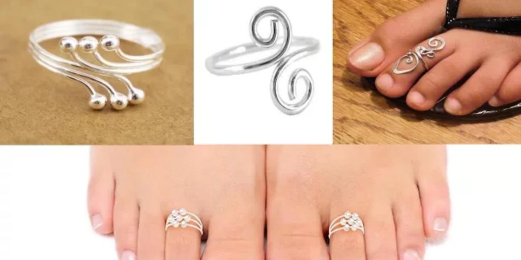 Silver Toe Rings Designs 2018.