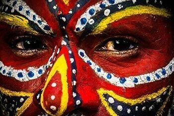Papua New Guinea Tambul tribes from Western Highlands.