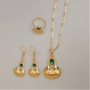 Details about Traditional Papua New Guinea PNG Necklace Earrings Ring  Wedding Jewellery Set.