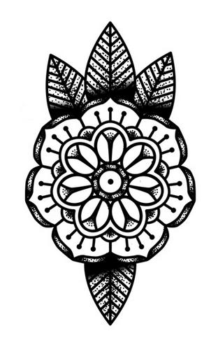 Finally found a dot/mandala flower tattoo I love!.