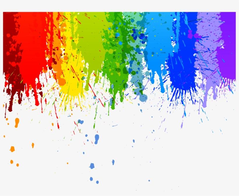 Colour Splash Drip Transparent Background Watercolor.