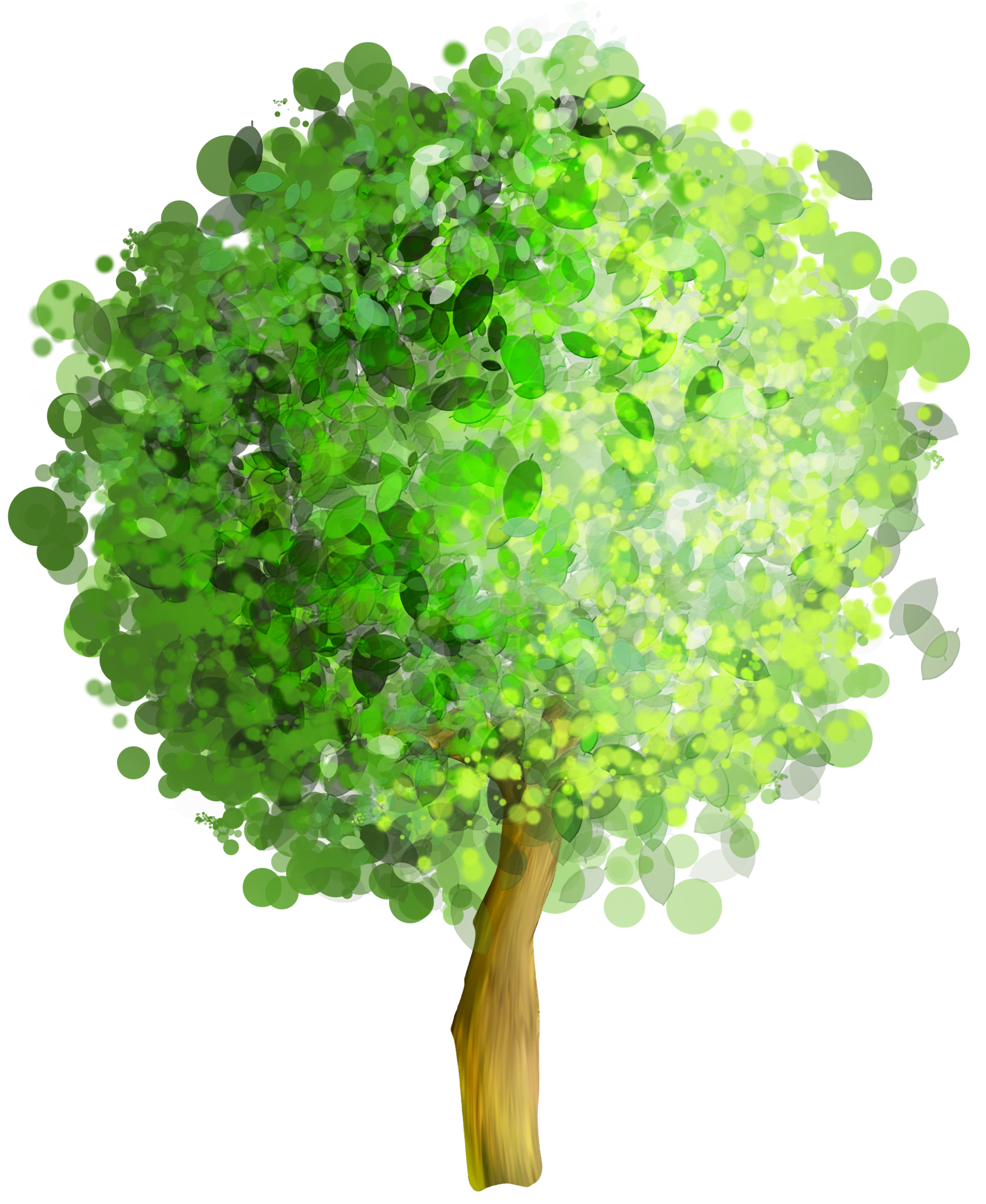Green Art Tree PNG Clipart.