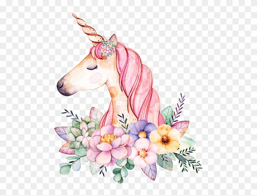 Unicorn Unicornio Fantasy Sticker Flowers Vintage Paint.