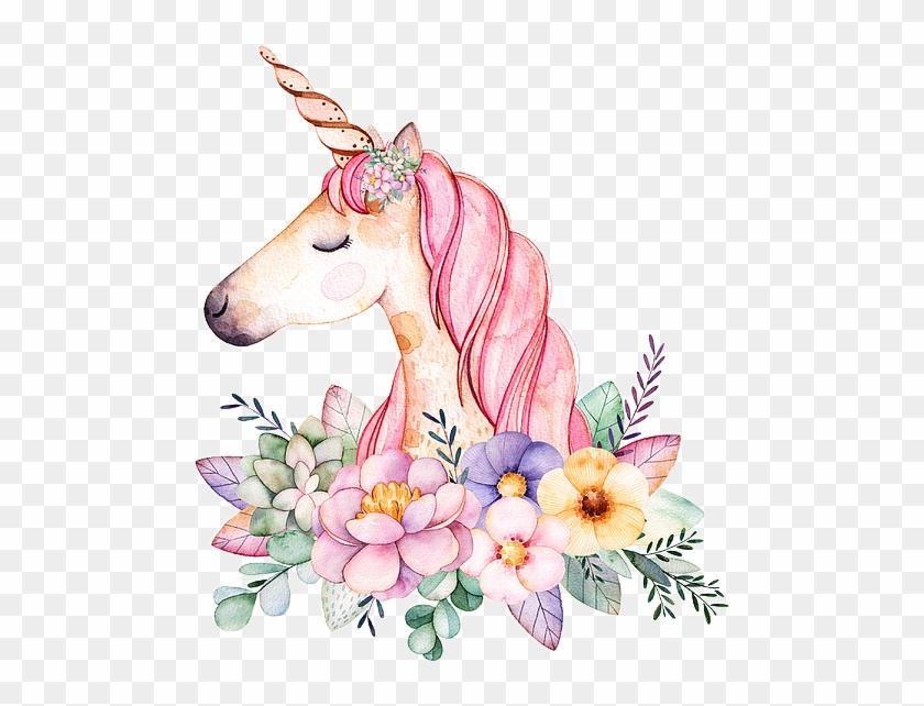 Unicorn Unicornio Fantasy Sticker Flowers Vintage Paint.