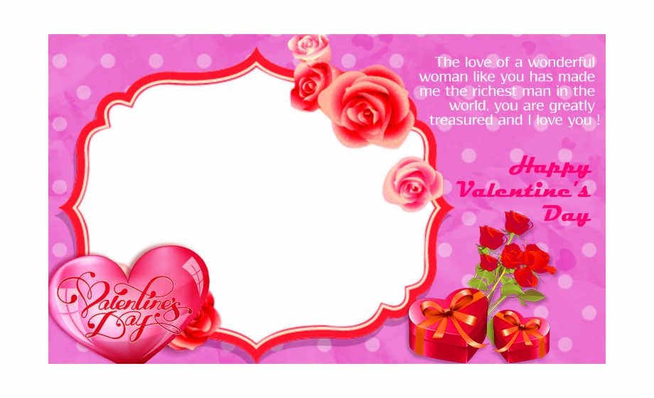 Valentines Day Frame Png Pic.