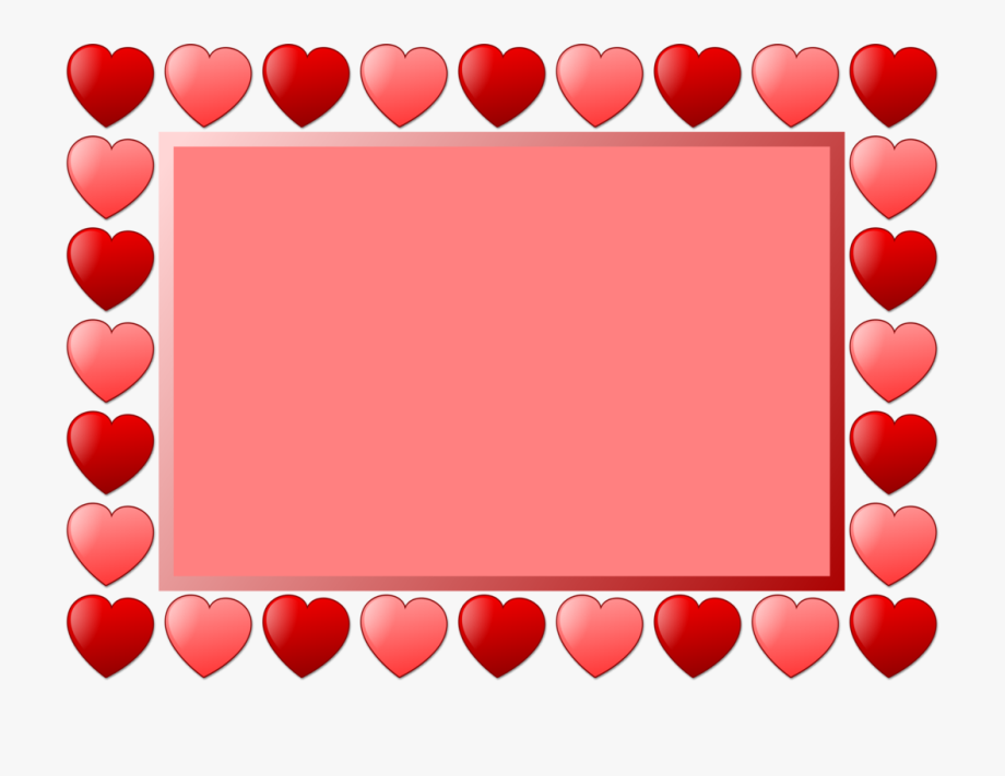 Heart Picture Frames Line Art Drawing Valentine\'s Day.