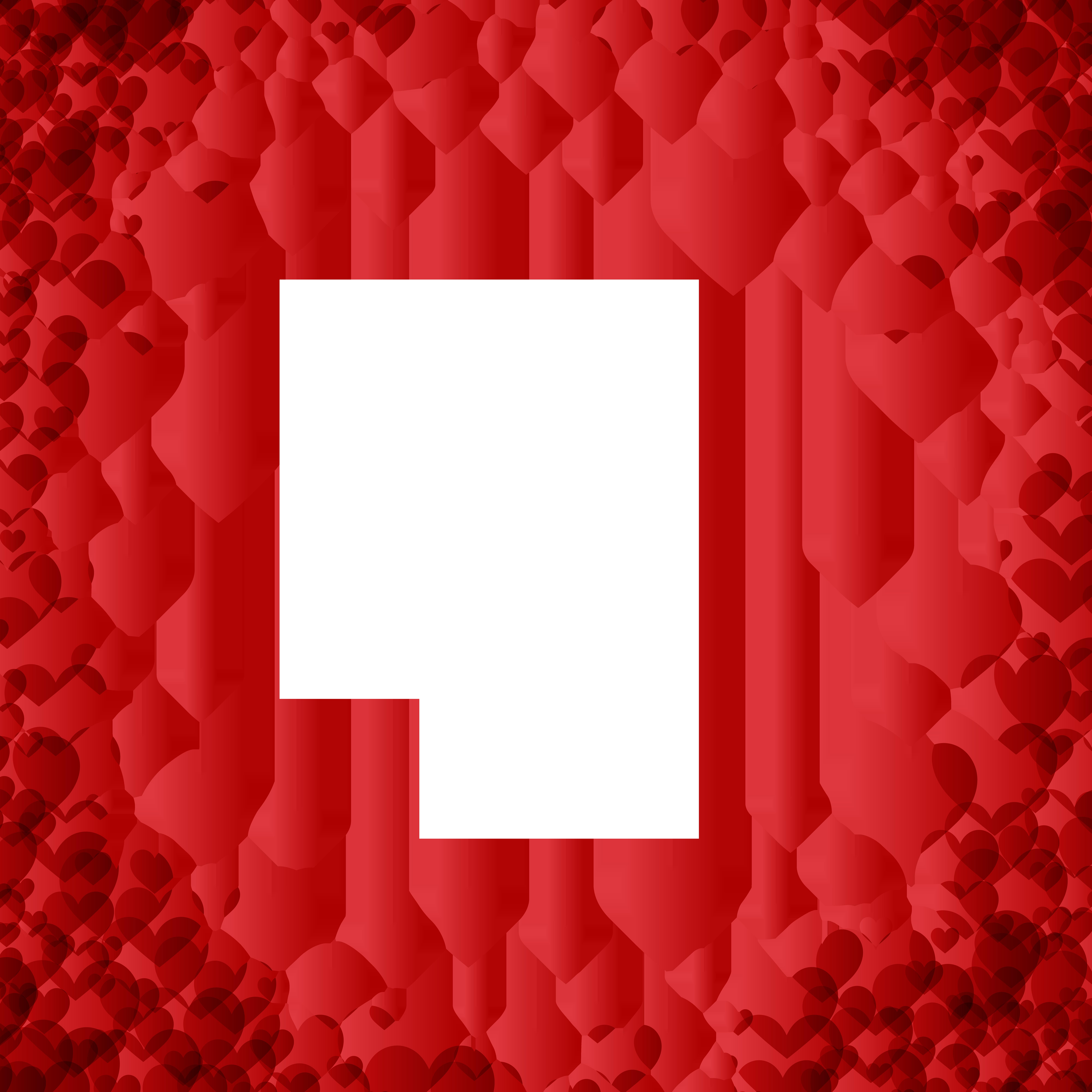 Valentine\'s Day Heart Border Frame Transparent Image.