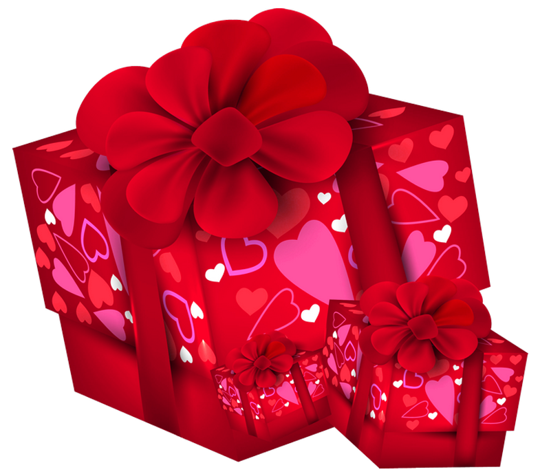 Valentines Day Gift Boxes PNG Clipart.