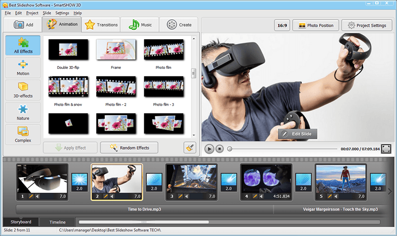Best video slideshow software 2015: striking fusion of video.