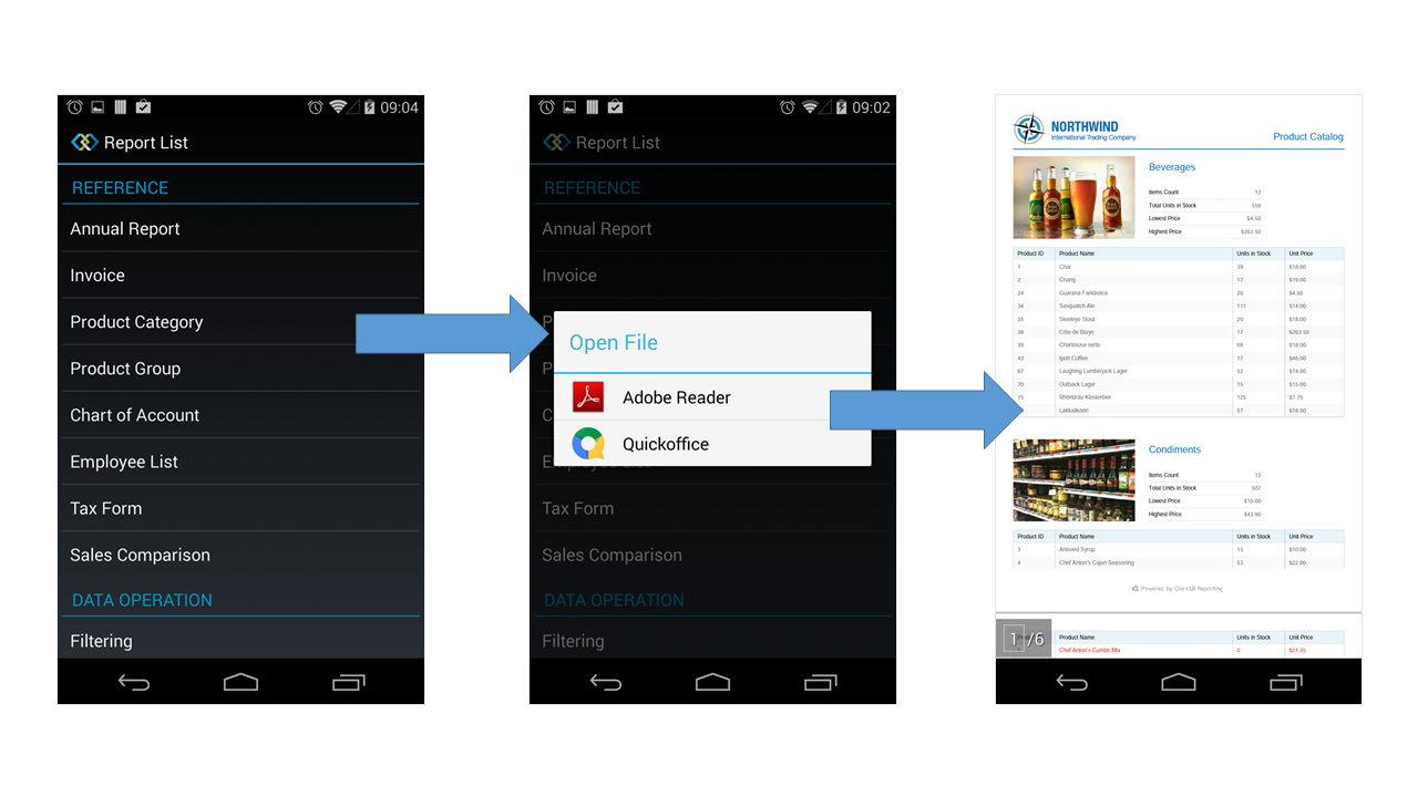 Android Report Viewer.