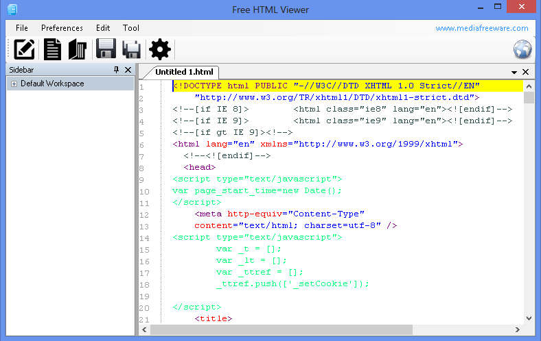Free HTML Viewer.