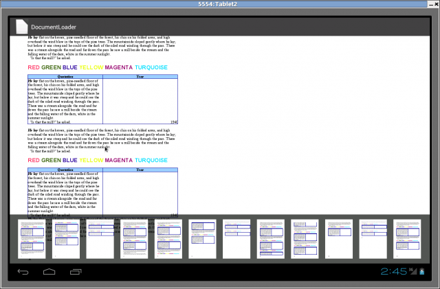LibreOffice for Android advances, document viewer is on the.