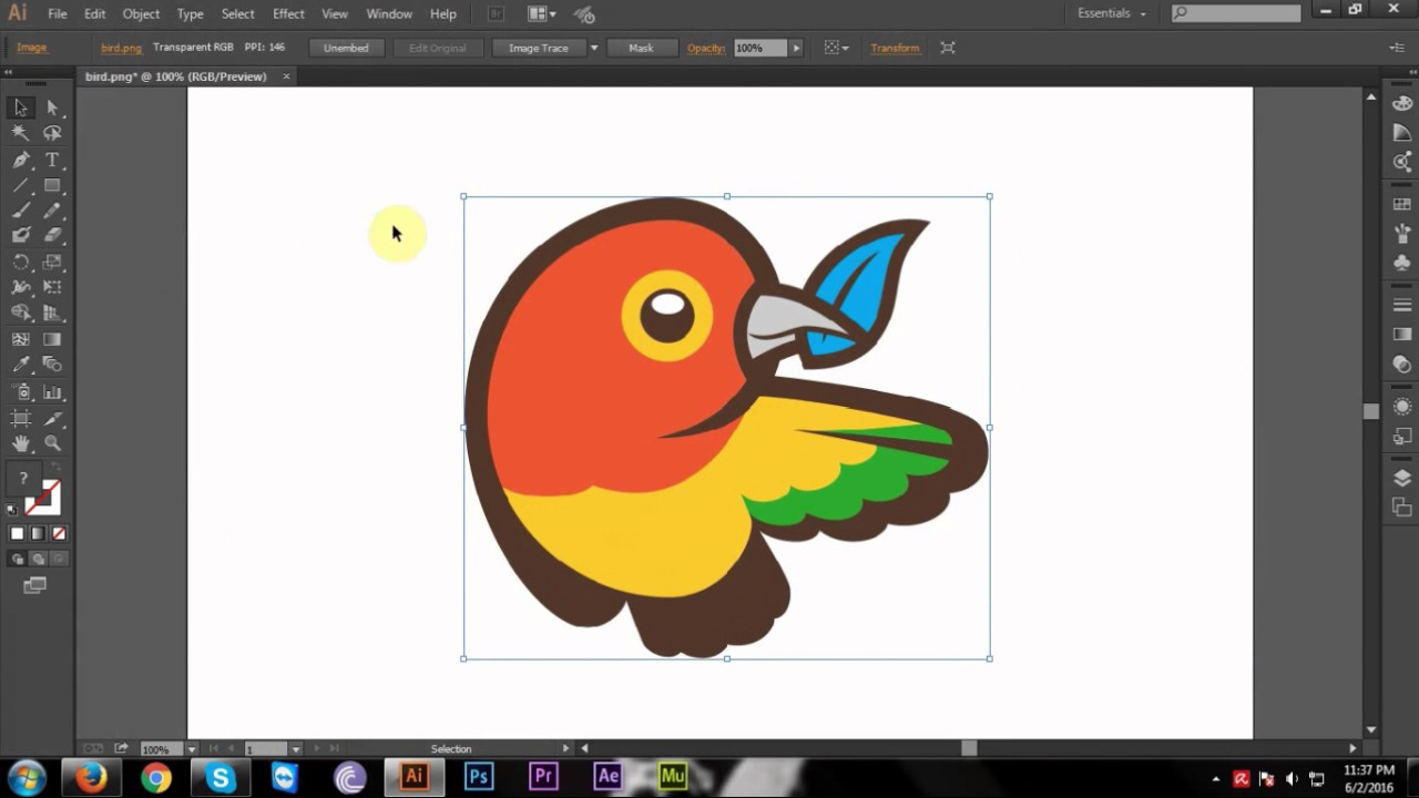 how to convert jpg or png to vector in adobe illustrator cc.