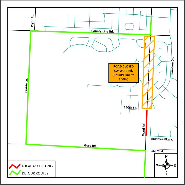 Ward Road Set to Close for Road Improvements.