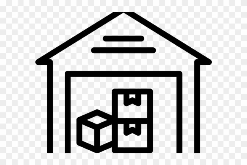 Warehouse Clipart Icon.