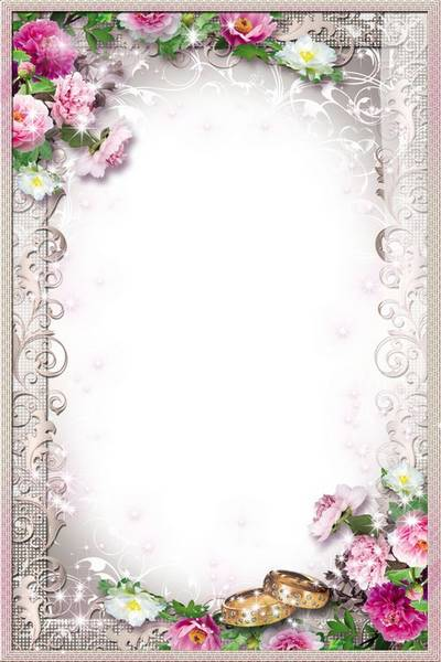 Free Wedding frame png photo frame psd in vintage style.