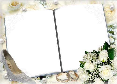 Wedding frame for photoshop.