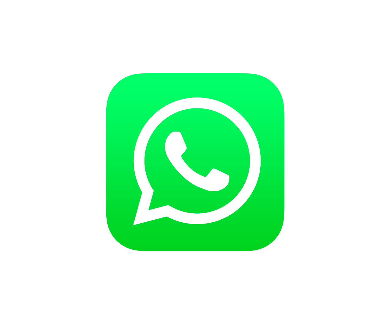 Whatsapp Ios Icon transparent PNG.