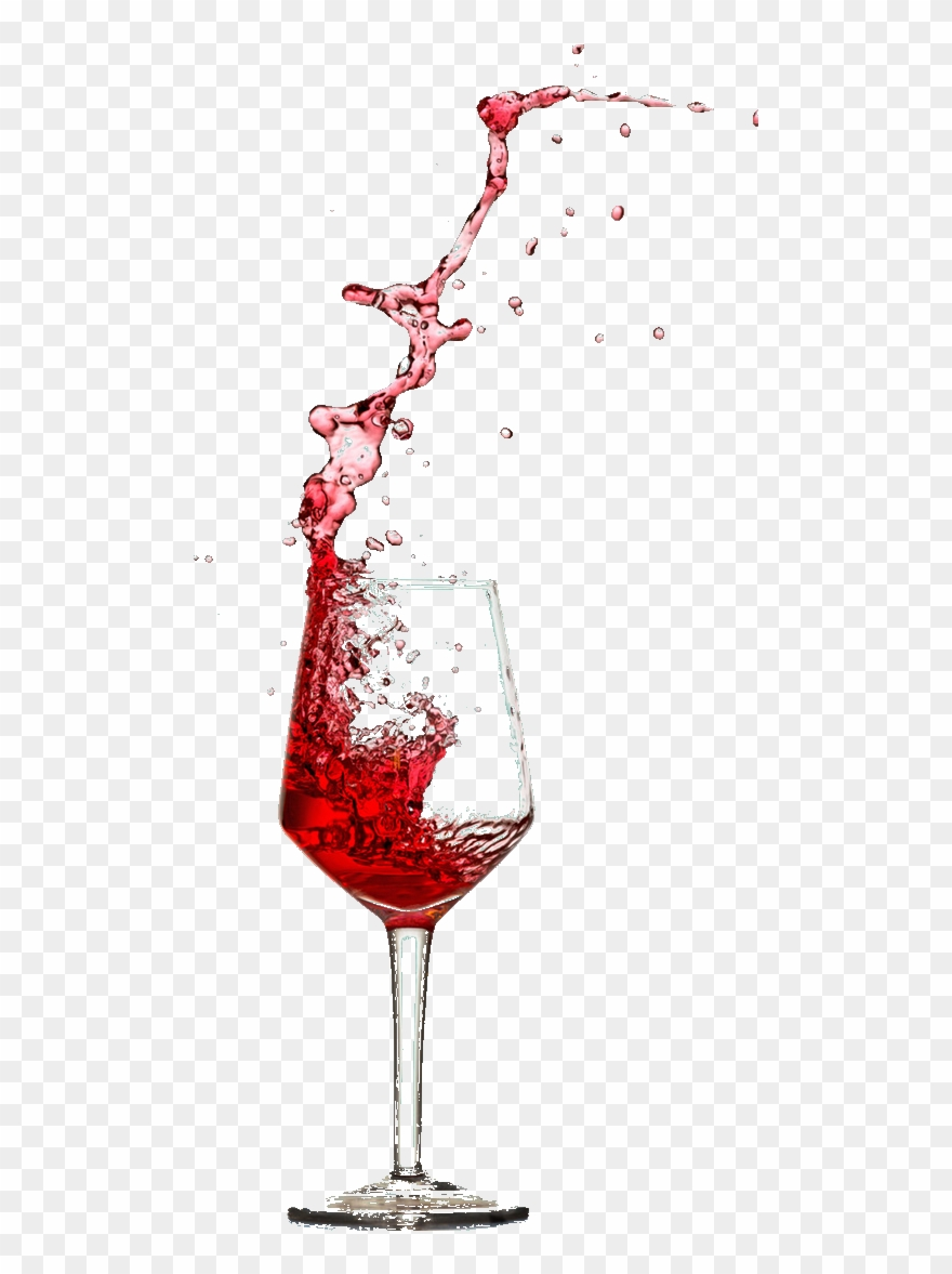 Transparent Background Red Wine Glass Png , Png Download.