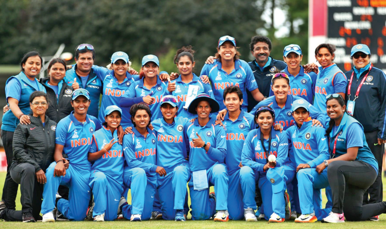 Cricket : Women in Blue.