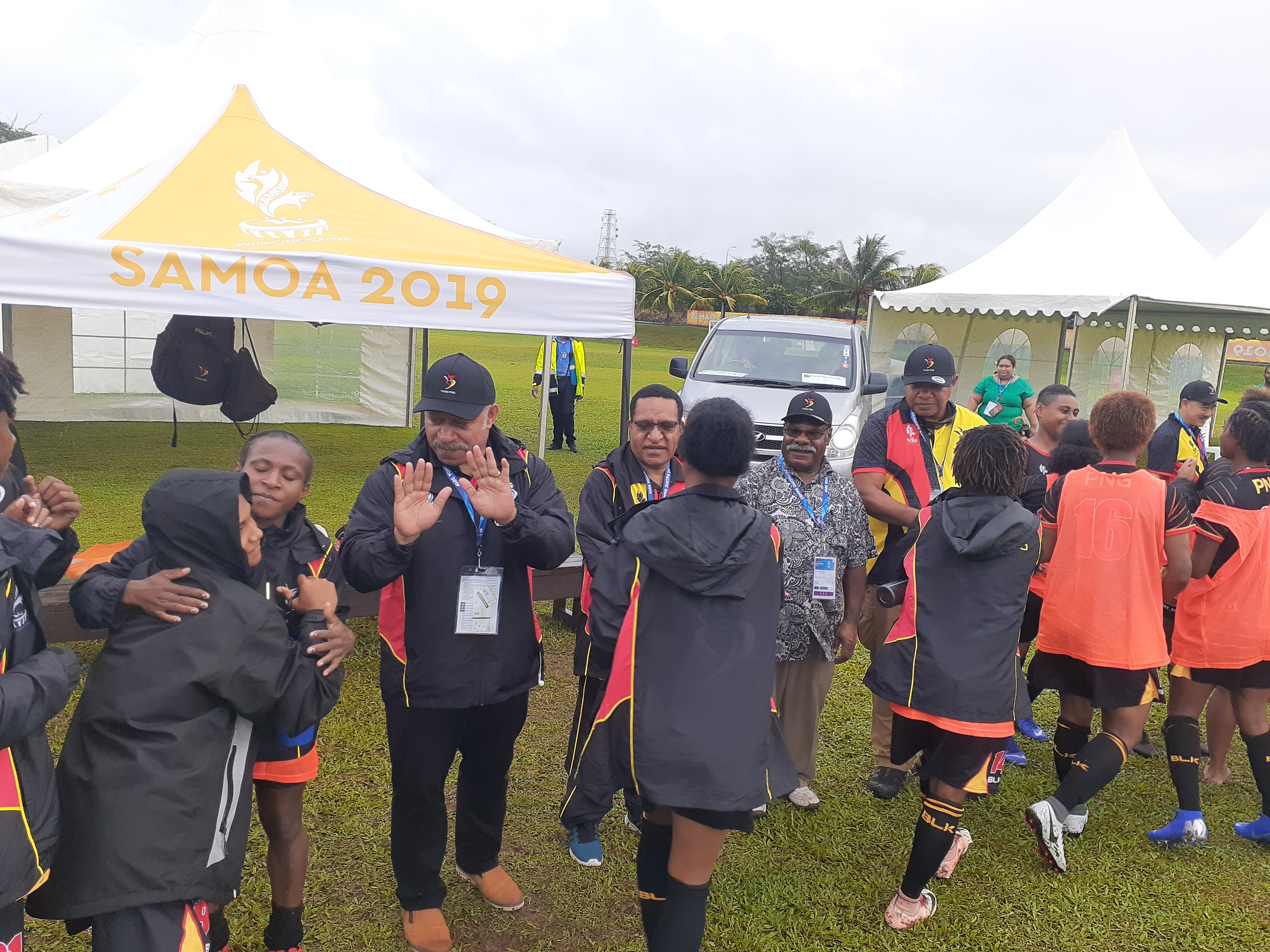 PNG women soccer team upsets Solomon Islanders.