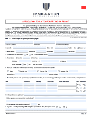Get And Sign The Application For The Grant Of A Temporary.