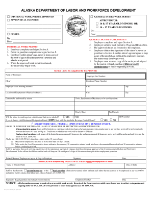 Alaska work permit form.