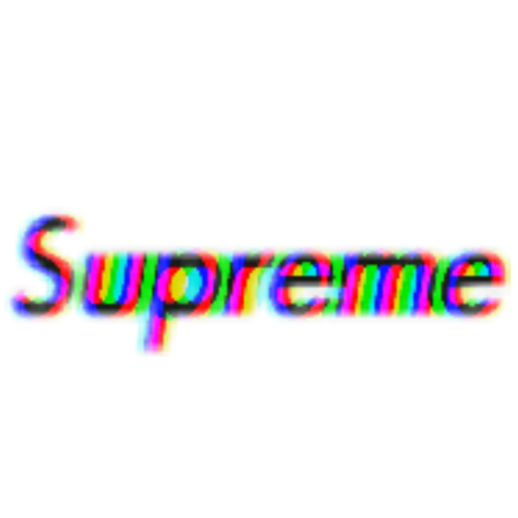 Supreme brand glitch effect text writing bold freetoedi.
