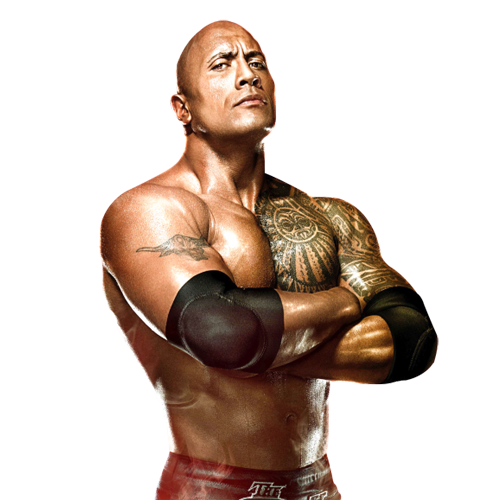 THE ROCK DWAYNE JOHNSON WWE PNG Image.