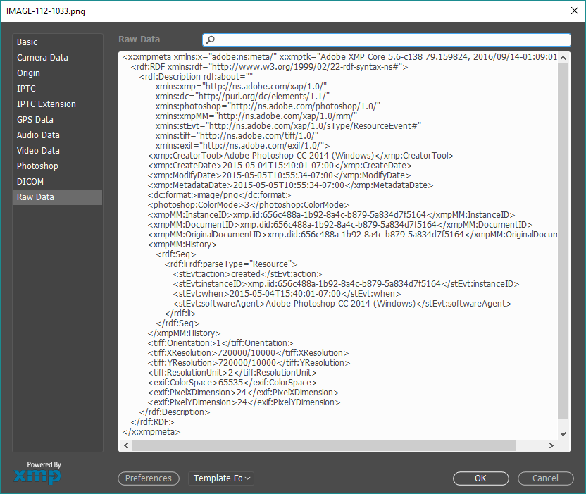 Adobe XMP Example.