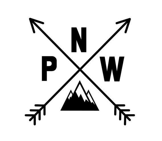 PNW Vinyl Decal.