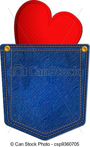 Jean Pocket Clipart.