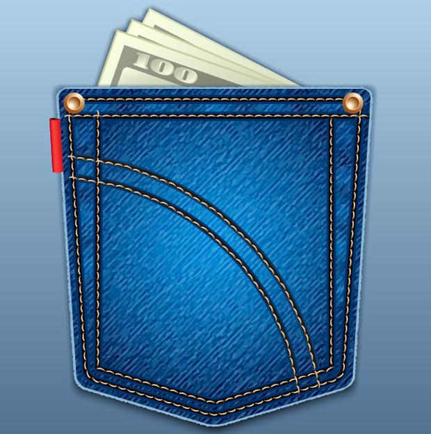 Jean pocket clipart free.