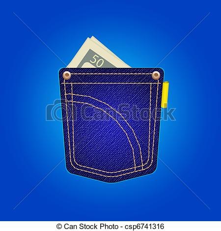 Blue Jean Pocket Clipart.