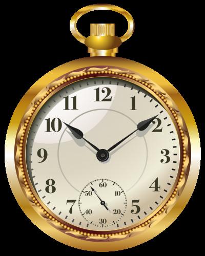 Pocket Watch Clock PNG Clip Art.