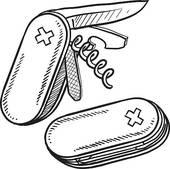 Pocket Knife Clipart.