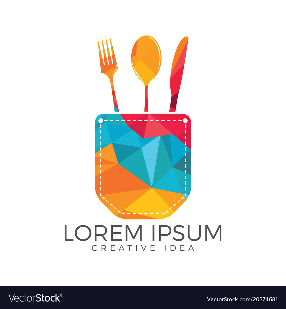 Pocket food logo design.