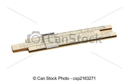Stock Photography of Old pocket slide rule mechanical calculator.