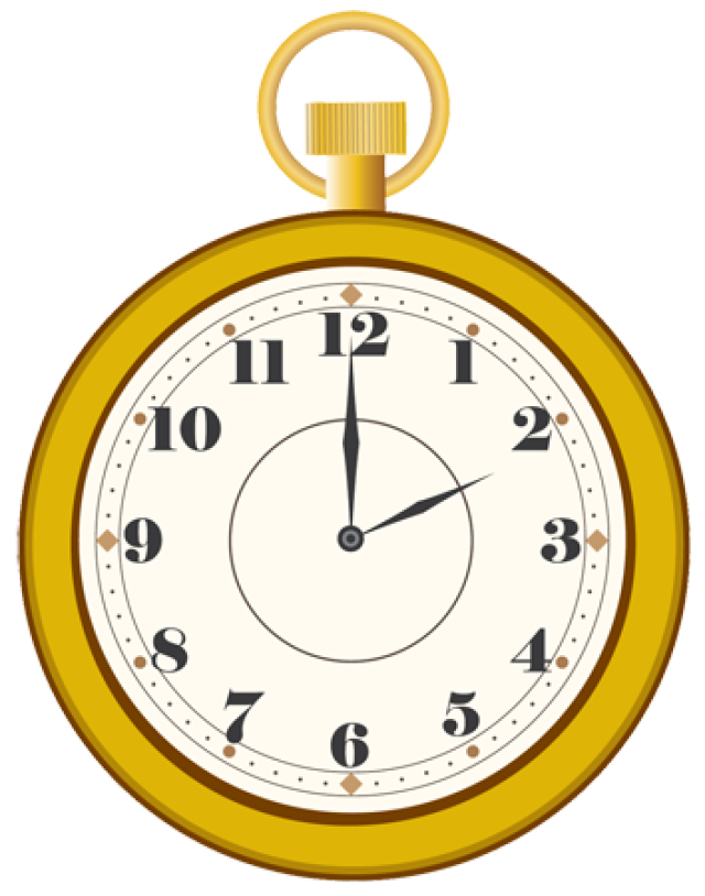 Collection of Pocket watch clipart.