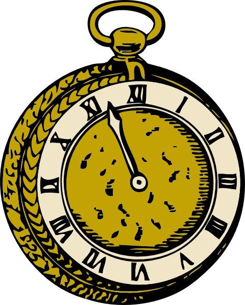 Pocket Watch clipart  Pencil and in color pocket watch