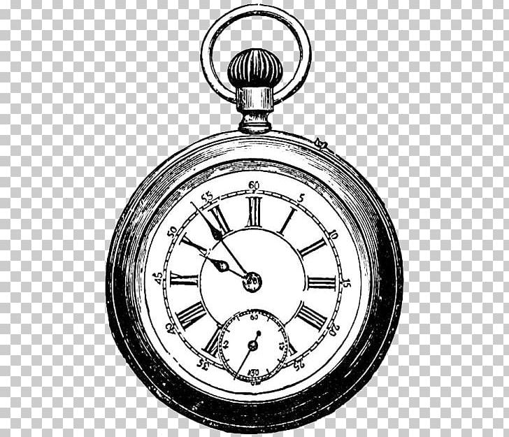 Pocket Watch PNG, Clipart, Black And White, Circle, Clock.