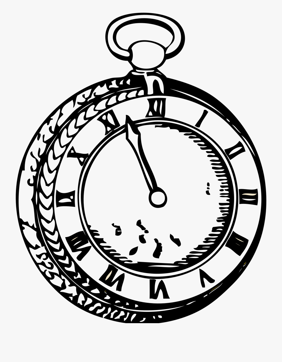 Watch Clipart Black And White.