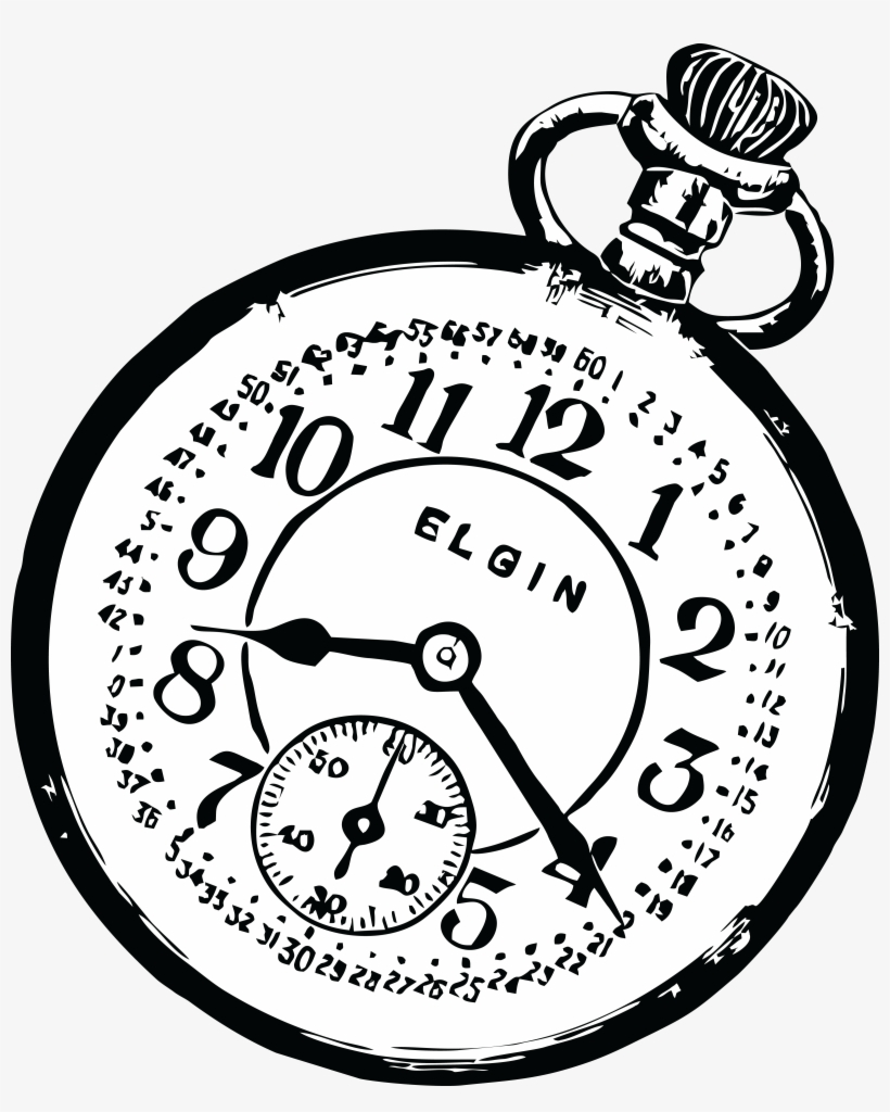 Free Clipart Of A Pocketwatch.